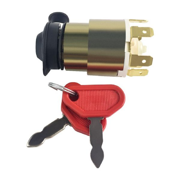 12V Ignition Switch with Rubber Cover